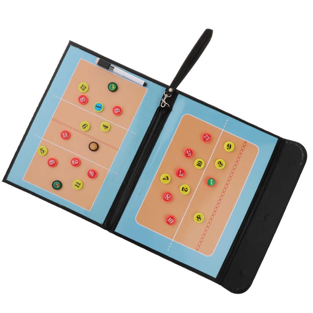 MagiDeal Sport Accs прозрачная тренерская доска для волейбола с застежкой-молнией из искусственной кожи