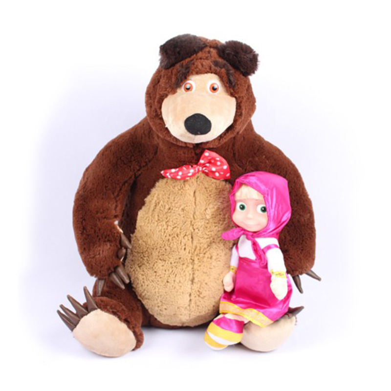 Russian Musical Masha Doll* Bear Plush Stuffed Toys and the Brand Educational For Boys Girls Birthday Christmas New Year Gift(China)