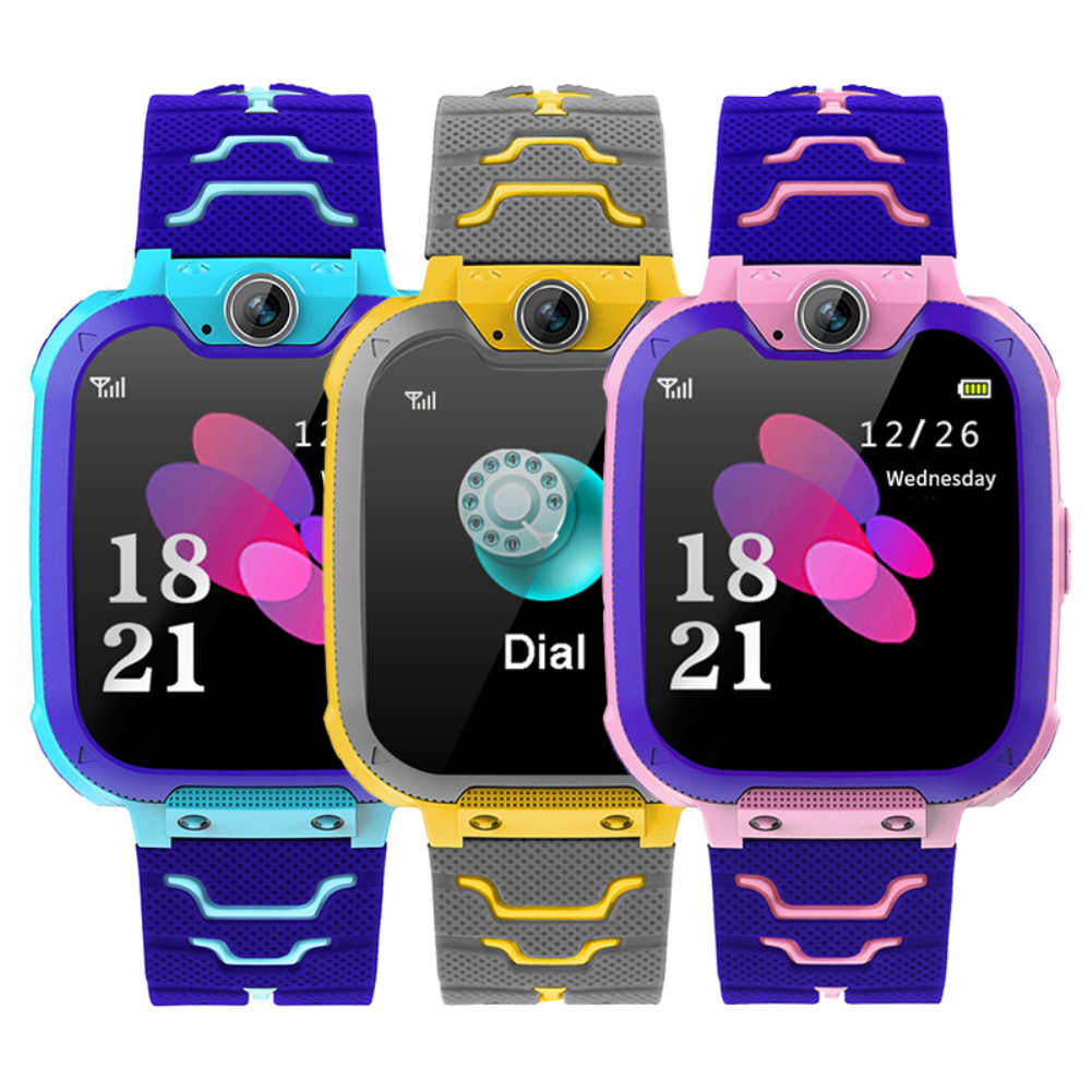 S11 Children's Smart Watch Student 1.4 Inch Waterproof Student Smart Watch Dial Phone Voice Chat Built-in Game for Ios Android