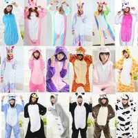Animal kigurumi onesie adulto feminino onesies para adultos uma peça velo solto bonito pijamas inverno sono terno pijamas de unicornio