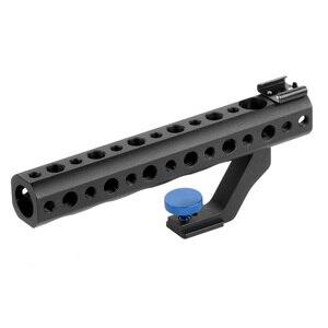 """Image 3 - Cámara DSLR mango superior de liberación rápida 28mm con zapata caliente 1/4 """"3/8"""" para DSLR Cage Rig tiro de ángulo bajo para Sony A6500 GH5 G85 A7RIII"""