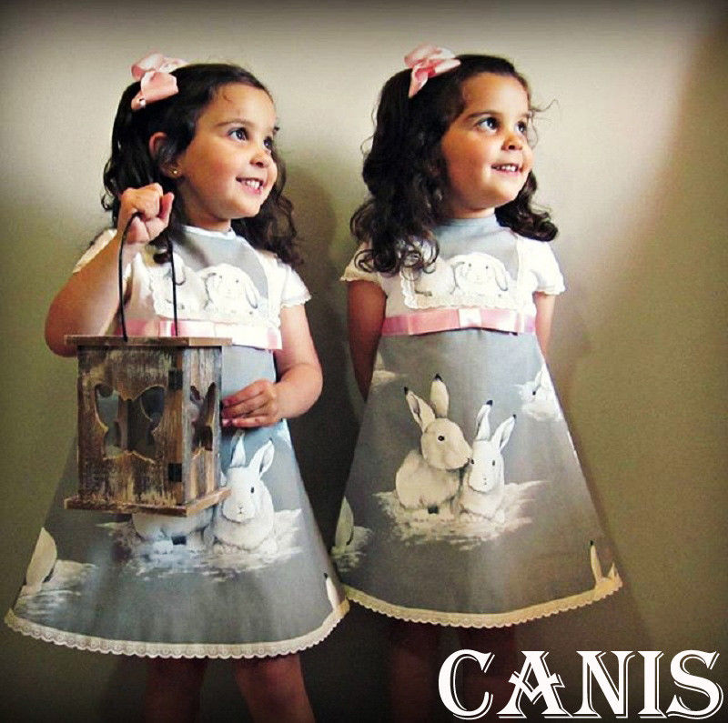 Toddler Kids Baby Girl Princess Summer Casual Bunny Dress Sundress Fashion Cute Clothes
