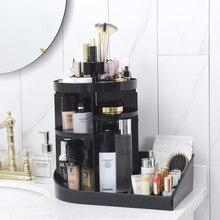 цены Large Fashion 360 Degree Rotating Makeup Organizer Box Storage Makeup Brushes Box Lipstick Holder Cosmetic Nail Polish Organizer