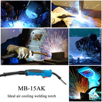 Welding DIY Machine 180A 15AK MIG Torch MAG Welding Gun 3000MM Air cooled Euro Connector for Welding Machine