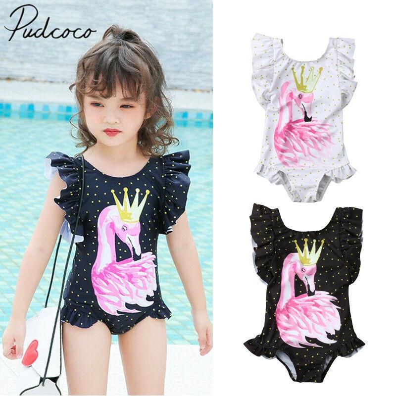 Newborn Children Kid Baby Girl Swimwear Swimsuit One-piece Bikini Beachwear Suit