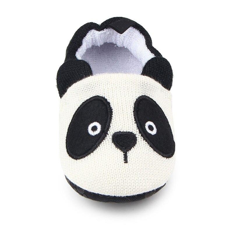 Милая детская обувь для младенцев для новорожденных мальчиков и девочек, вязаная панда, ручная работа