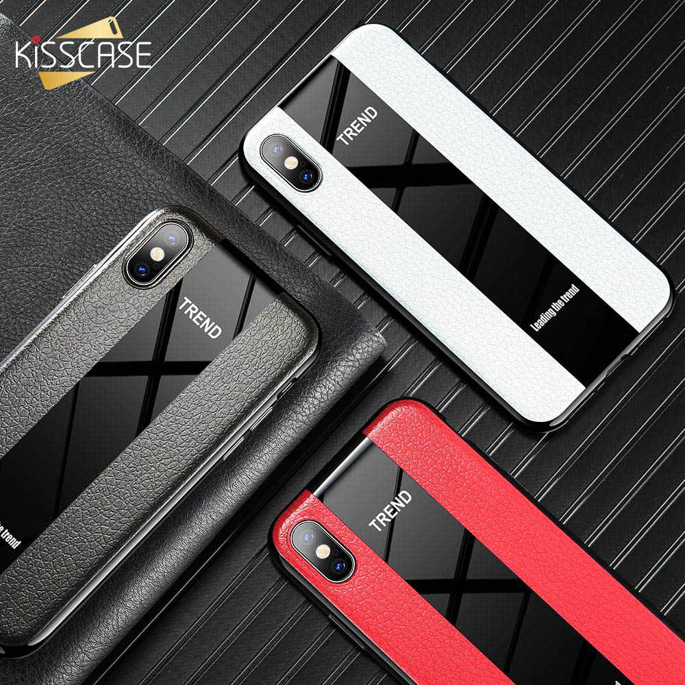 KISSCASE Racing Auto Indruk Leather Case Voor iPhone XR 7 8 6S 6 Plus Tpu Cases Voor iPhone X XR XS Max Back Covers Funda