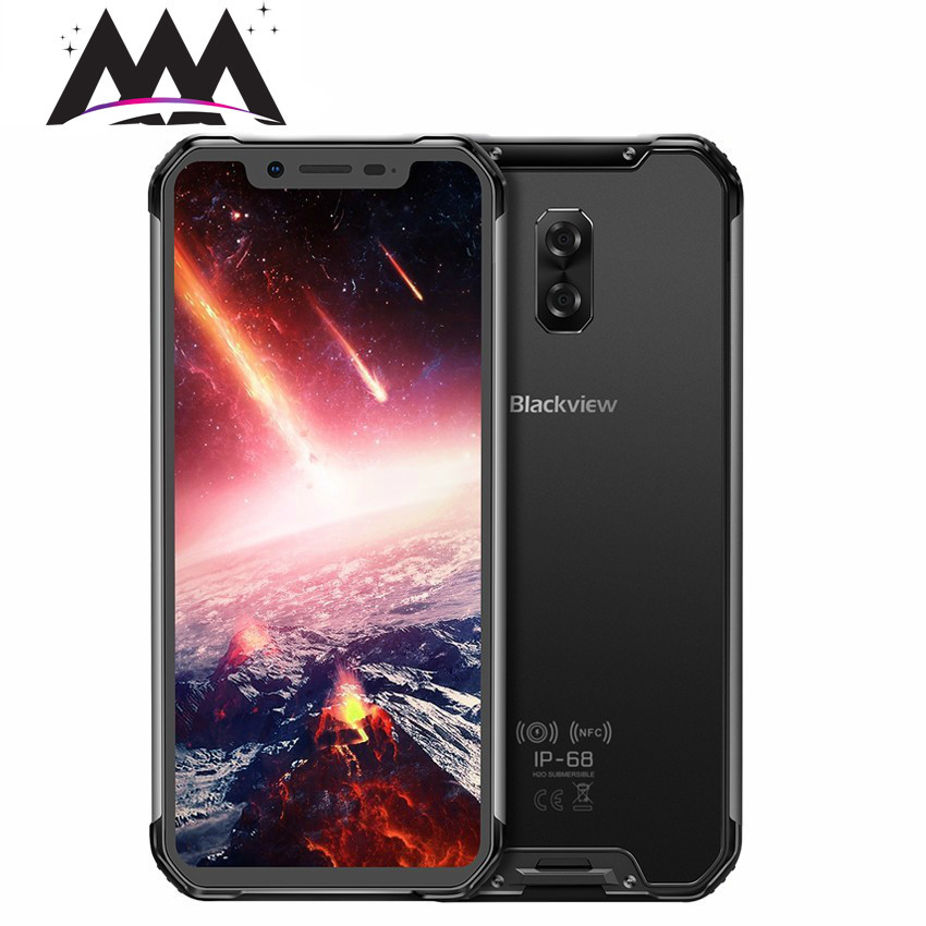 Téléphone portable étanche antichoc Blackview BV9600 Pro IP68 Android 8.1 6 GB + 128 GB Helio P60 Octa Core 5580 mAh NFC 4G Smartphone