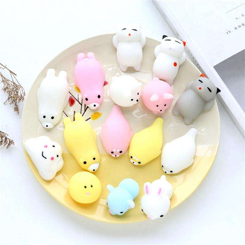 Mini Decompression Squeeze Ball Slow Rising Antistress Small Animal Cute Cat Seals Shape Stress Relief Gift Funny Toy
