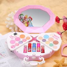 Disney Princess Makeup Set for Children Little Girls Cosmetic Kit Toy with Shell Case Box Portable Shell Bag Makeup Toy(China)