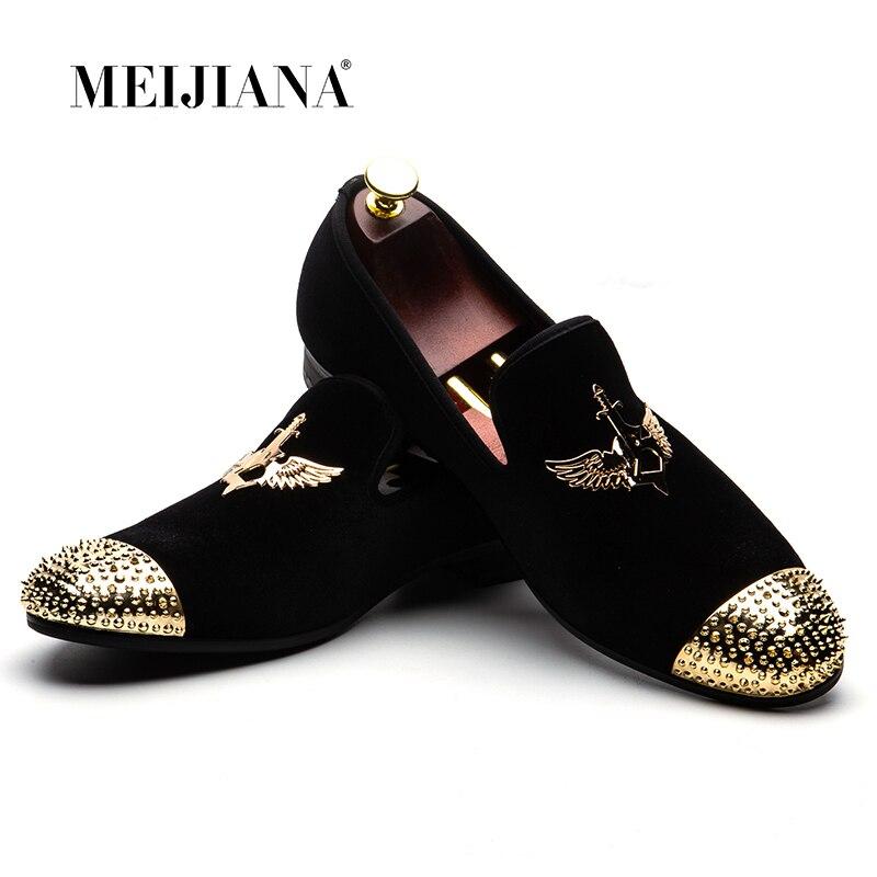 MEIJIANA 2018 Mode Marke männer Schuhe Handgemachte Leder Komfortable männer Schuhe Männer Müßiggänger frauen Bankett Schuhe