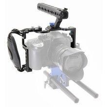 Uchwyt ochronny do klatki kamery z górnym uchwytem do aparatu Panasonic Lumix GH5 zestaw akcesoriów do studia fotograficznego