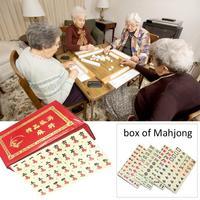 Card Games Portable Chinese MahJong Rare Game Mini Mah Jong Set Entertainment Board Game Family Fun Desktop Games Party Gift