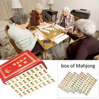 Card Games Portable Chinese MahJong Rare Game Mini Mah Jong Set Entertainment Board Game Family Fun Desktop Games Party Gift