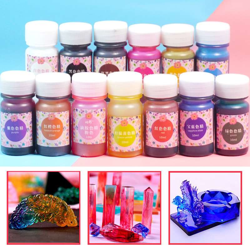 Coloring  Dye  Epoxy  13 Color  UV  Resin  Craft Pigment Art   Resin  ColorantColoring  Dye  Epoxy  13 Color  UV  Resin  Craft Pigment Art   Resin  Colorant