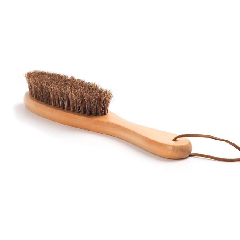 Horse hair shoes brush long handle wooden high grade anti - Natural horse hair interior upholstery brush ...