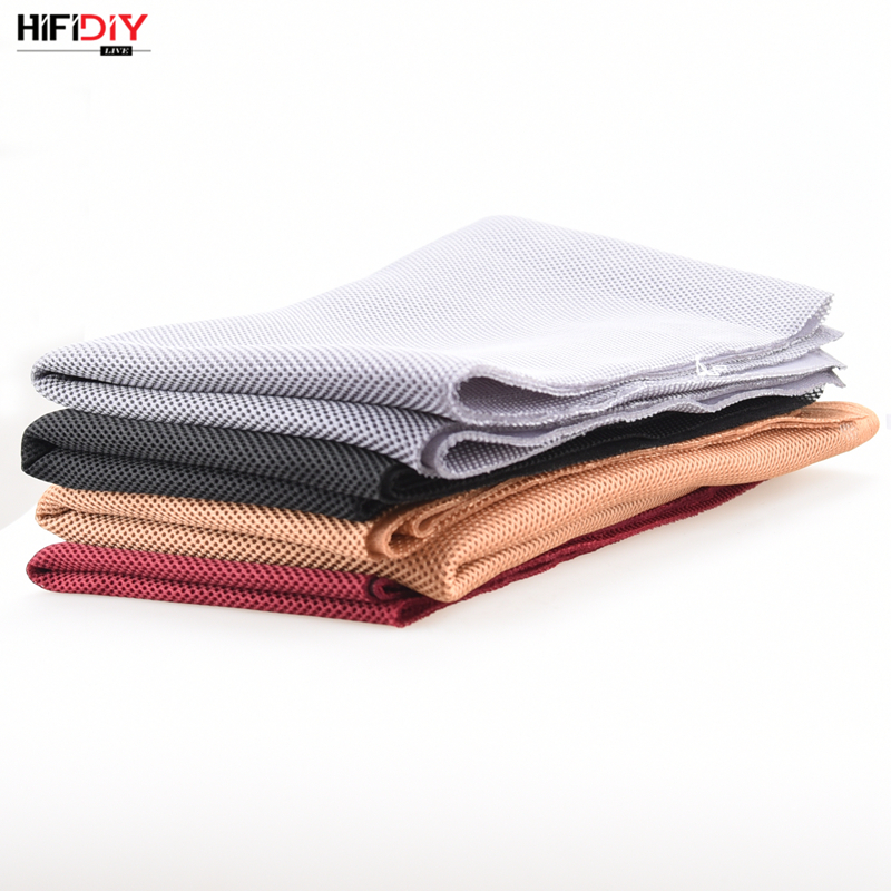 HIFIDIY LIVE Speaker Grill Cloth Stereo Fabric Gille Mesh Cloth Speaker Protective Accessories White Brown Silver Black 1.5*0.5 1