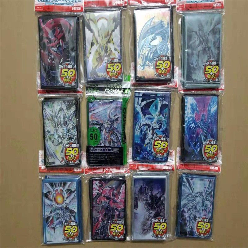 10 packs/lot yu-gi-oh cards sleeves set anime Duel Monsters cosplay emperor dragon dark magician board games duelist protector