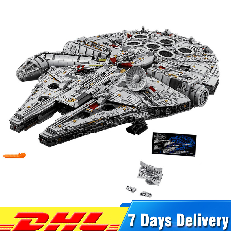 Compatible legoings 75192 8445 PCS Ultimate Wars Collector s Millennium Falcon Model Building Blocks Bricks Toys