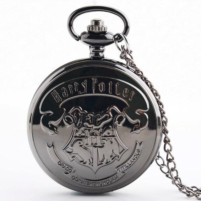 IBEINA Pocket Watch Men Harry Potter Theme Full Hunter Quartz Fob Retro Pendant