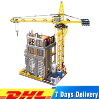 Лепин 15031 4425 шт. MOC здания серии строительство с модель крана Совместимость Legoings Конструкторы кирпичи игрушечные лошадки подарки