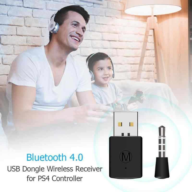 3,5mm Bluetooth USB adaptador receptor 4,0 Dongle para PS4 Playstation 4 compatible con A2DP, HFP. Suministro de consola de Gamepad con controlador A2DP