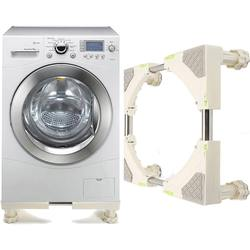 16.8x16.8 cm Rvs Verstelbare Wasmachine Koelkast Houder Onderwagen Beugel Base Stand Max Belasting 300 kg Nieuwe
