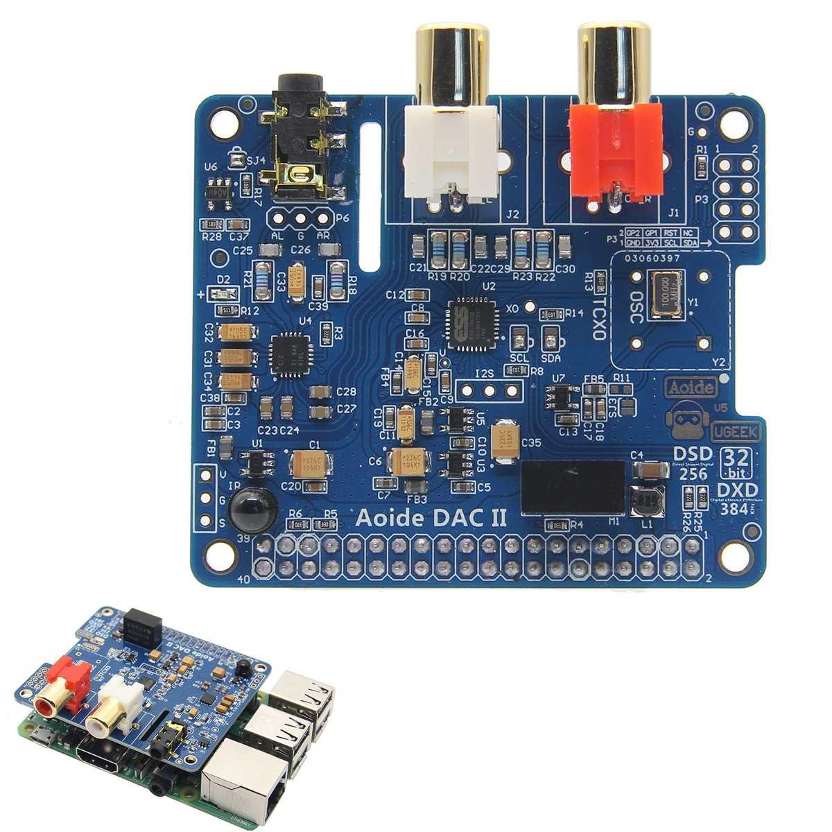 CLAITE 384 kHz Audio Expansion Board DAC II Hifi Sound Card DSD APE FLAC WAV Music