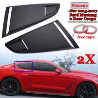 2x Car Side Rear Window Quarter Louver Side Vent Deflector Scoop Cover For Ford For Mustang 2015 2017 2 Door For Coupe Model