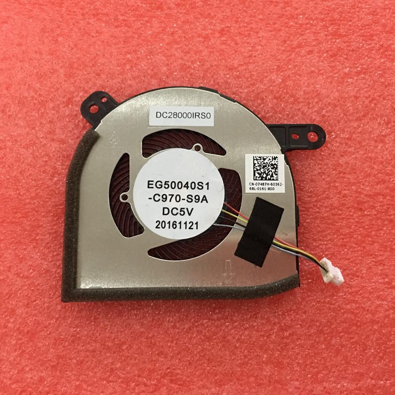 New CPU Cooling Fan 07487H DC28000IRS0 EG50040S1-C970-S9A For Dell Latitude 5285