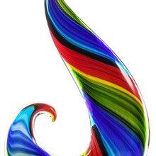 Rainbow Glass Abstract Sculpture Hand Blown Glass