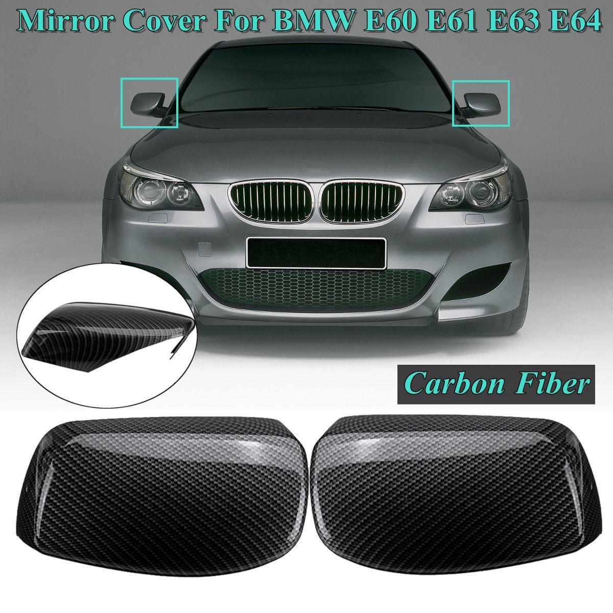1 Pair ABS Carbon Fiber Look Side Rearview Wing Mirror Cover Caps for BMW E60 E61 E63 E64 2003 2004 2005 2006 2007 20081 Pair ABS Carbon Fiber Look Side Rearview Wing Mirror Cover Caps for BMW E60 E61 E63 E64 2003 2004 2005 2006 2007 2008
