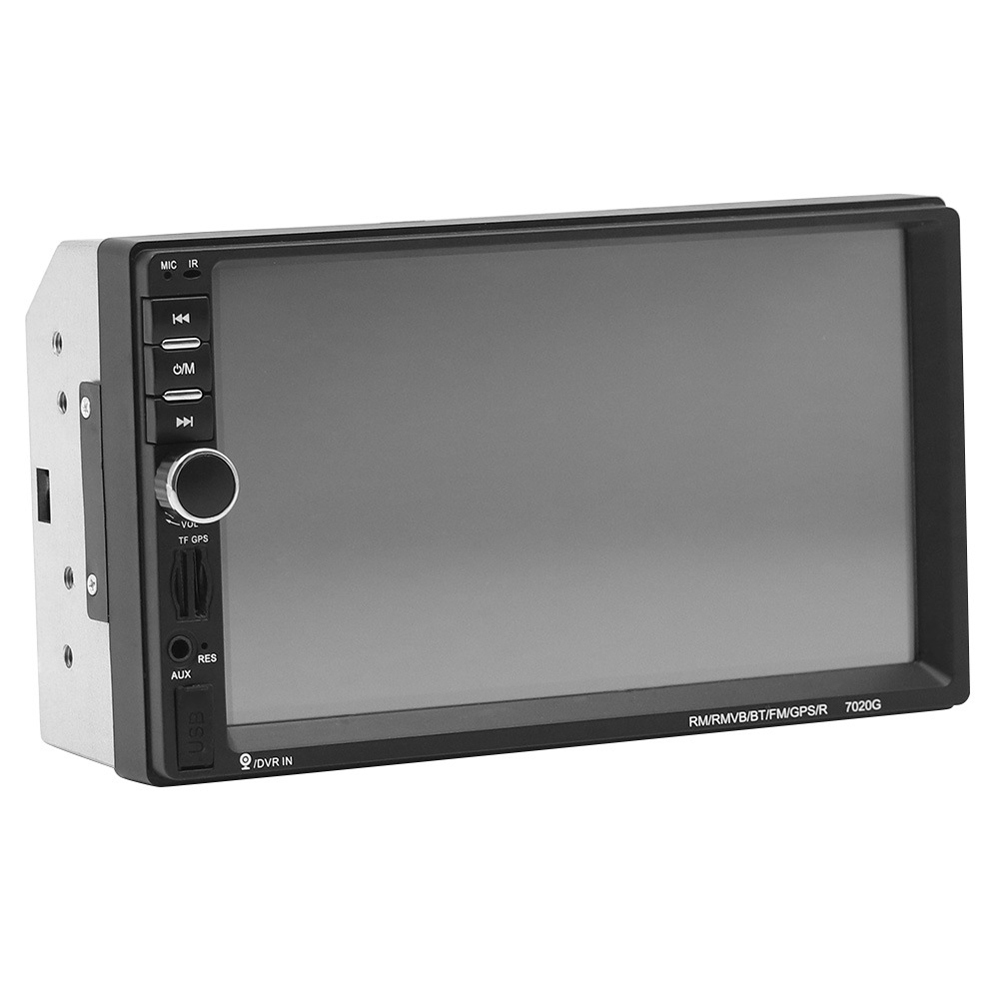 HEVXM <font><b>2</b></font> <font><b>Din</b></font> Car Multimedia Player GPS Navigation with Map 7 inch HD Touch Screen Bluetooth <font><b>Radio</b></font> MP4 MP5 Player <font><b>7018G</b></font> <font><b>Radios</b></font> image