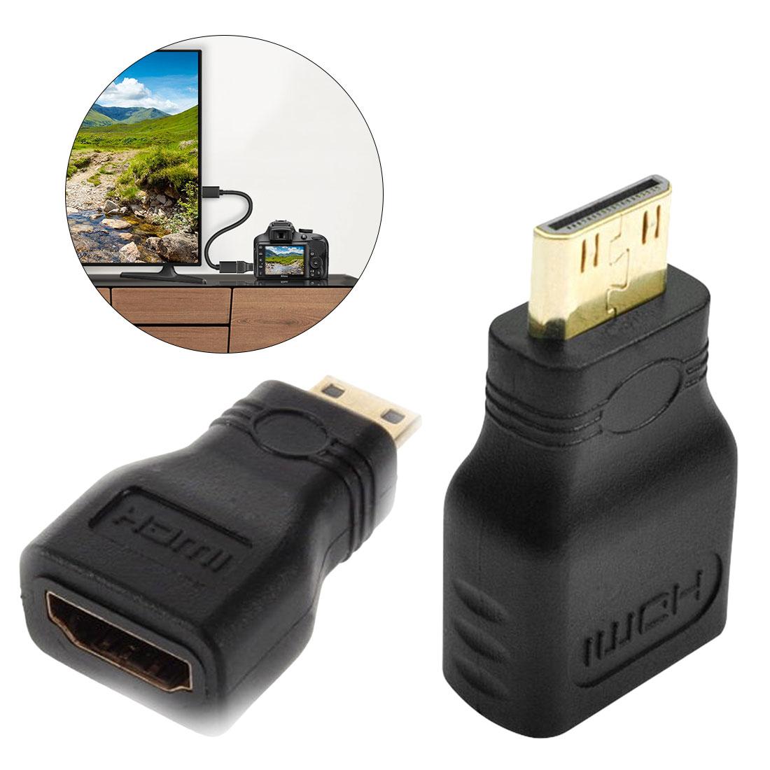 1PC HDMI Male Adapter Converter Type A Female to Type C Mini HDMI 1080p Full HD