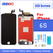 AAA+++ For iPhone 6s LCD With 3D Force Touch Screen Digitizer Assembly i phone 6 s Display LCD Screen No Dead Pixel Black White цена в Москве и Питере
