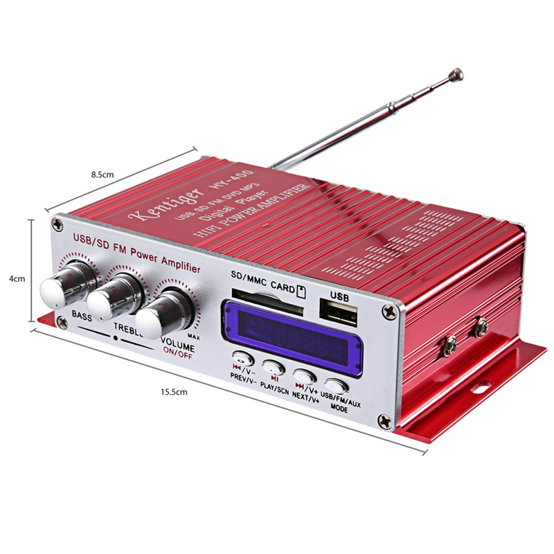 cheapest Kentiger Hy-400 Hi-Fi Car Stereo Amplifier Radio Mp3 Speaker With Fm Lcd Display Power Player For Auto Motorcycle Remote Contr