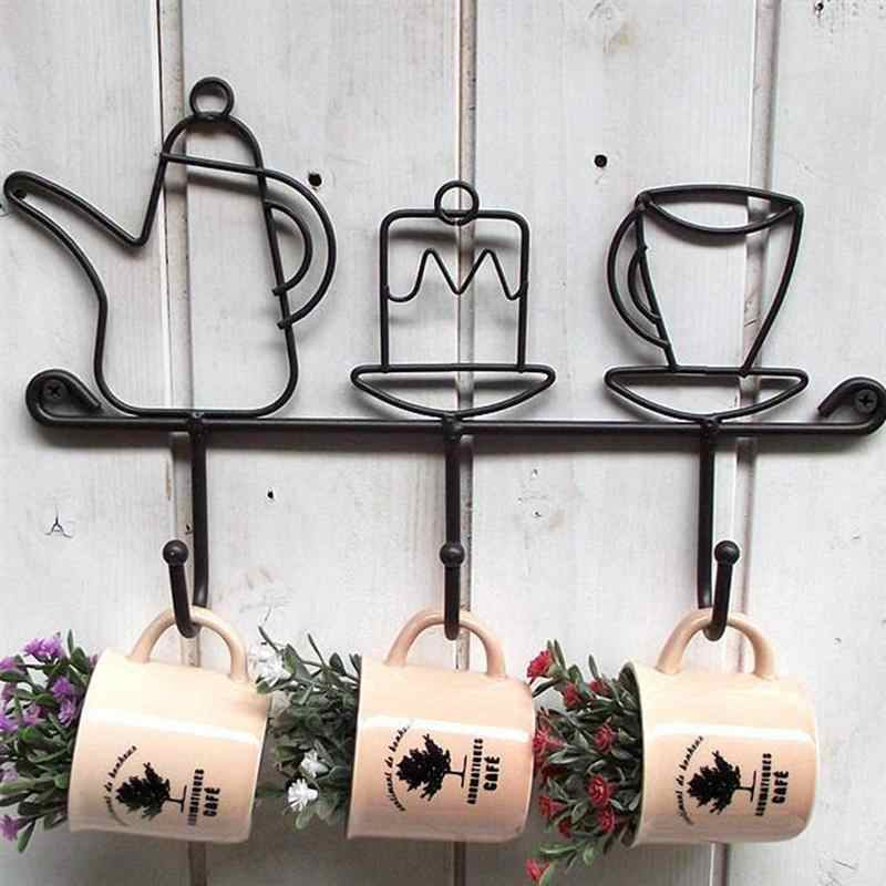 Creative ตะขอเหล็กโลหะ Vintage หมวกแขวนตกแต่ง Hook สำหรับร้านเสื้อผ้าห้องน้ำห้องครัว (A)
