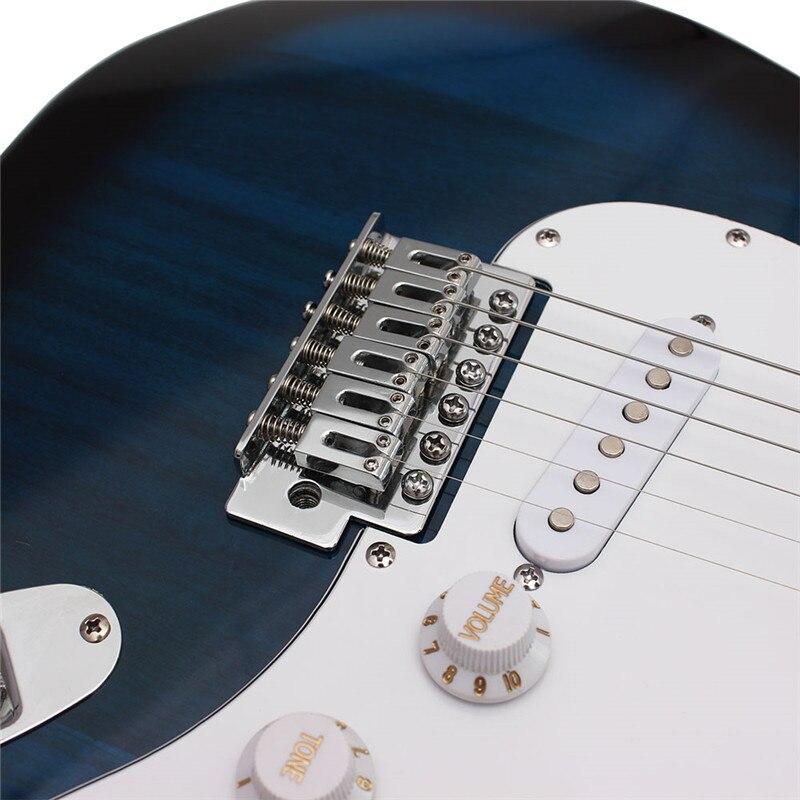 39 zoll 6 Saiten E gitarre Palisander Griffbrett Linde Guitarra mit Gig Bag für Anfänger oder Professionelle Leistung - 4