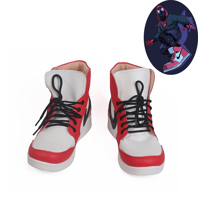 Miles Morales Shoes Cosplay Ultimate Spider Man Mens Boots
