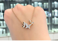 Butterfly Wholesale Necklace Friendship Women Silver Rose Gold Colour Chain Jewelry