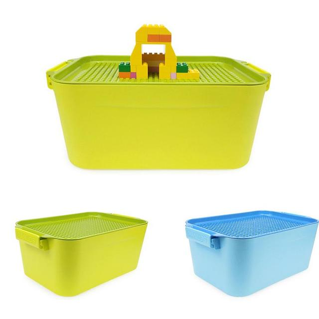 1PC Children Storage Bucket Box For Building Blocks Plastic Box For Containing Small Items Small Size With Large Capacity
