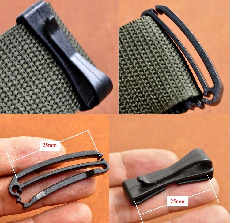 12pcs Webbing Ending Clip Adjust Keeper Buckle Connect Quick Slip Keeper for Molle Webbing Buckle Strap Belt Tactical Backpack Belt 38mm 1 1//2 inch