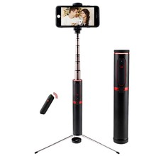 Bluetooth Selfie Stick Mini Tripod 3 in 1 Monopod Selfie Stick Bluetooth Wireless Remote Shutter for Android & Iphone original benro rechargeable bluetooth shutter remote control for benro tripod selfie stick mefoto mk10 in stock