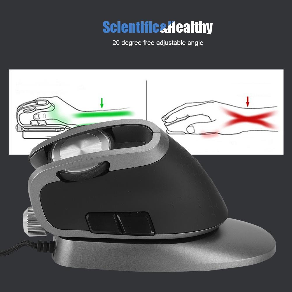 DELUX M618X filaire e-sports jeu souris 6 boutons USB souris de jeu verticale scientifique et saine longue durée de vie - 3