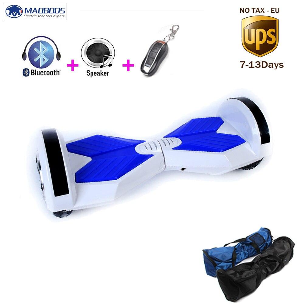 8 pouces Hoverboard avec bluetooth À Distance Clé lumière led trottinette électrique Deux Roues Auto Équilibre Planche À Roulettes Hoverboard électrique