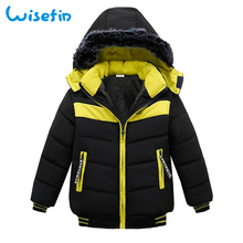 цена на Baby Boys Winter Jacket Coat Kids Warm Thick Down & Parkas Hooded Outerwear Children Snowsuit Toddler Zipper Down Jacket P20