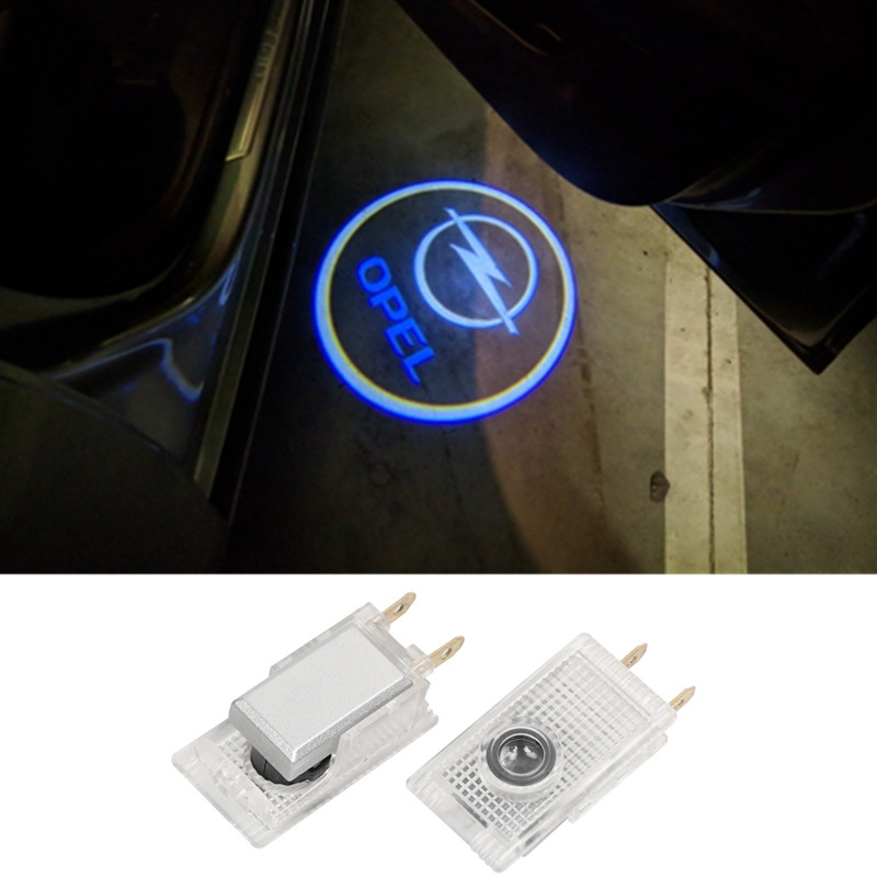 2X 3D Car Styling LED Car Door Warning Welcome Logo Light For Opel Insignia Emblem Projector Lamp image