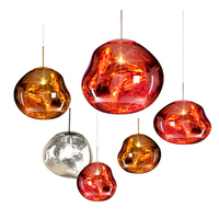 Modern Tom DIXON Glass Lava Pendant Lamp LED Glass Ball Pendant Lights Bedroom Living Room Kitchen Fixture Suspension Luminaria