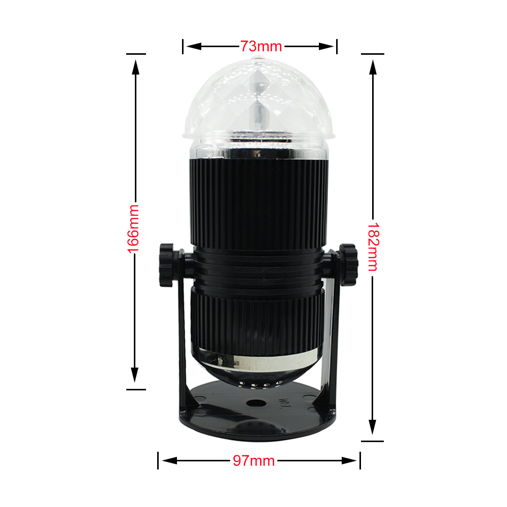 Crystal Magic Party Stage Light Professional Disco Ball Voice Cotrol Lights Mini RGB LED DJ Stage Lighting Auto Rotating Sound in Stage Lighting Effect from Lights Lighting
