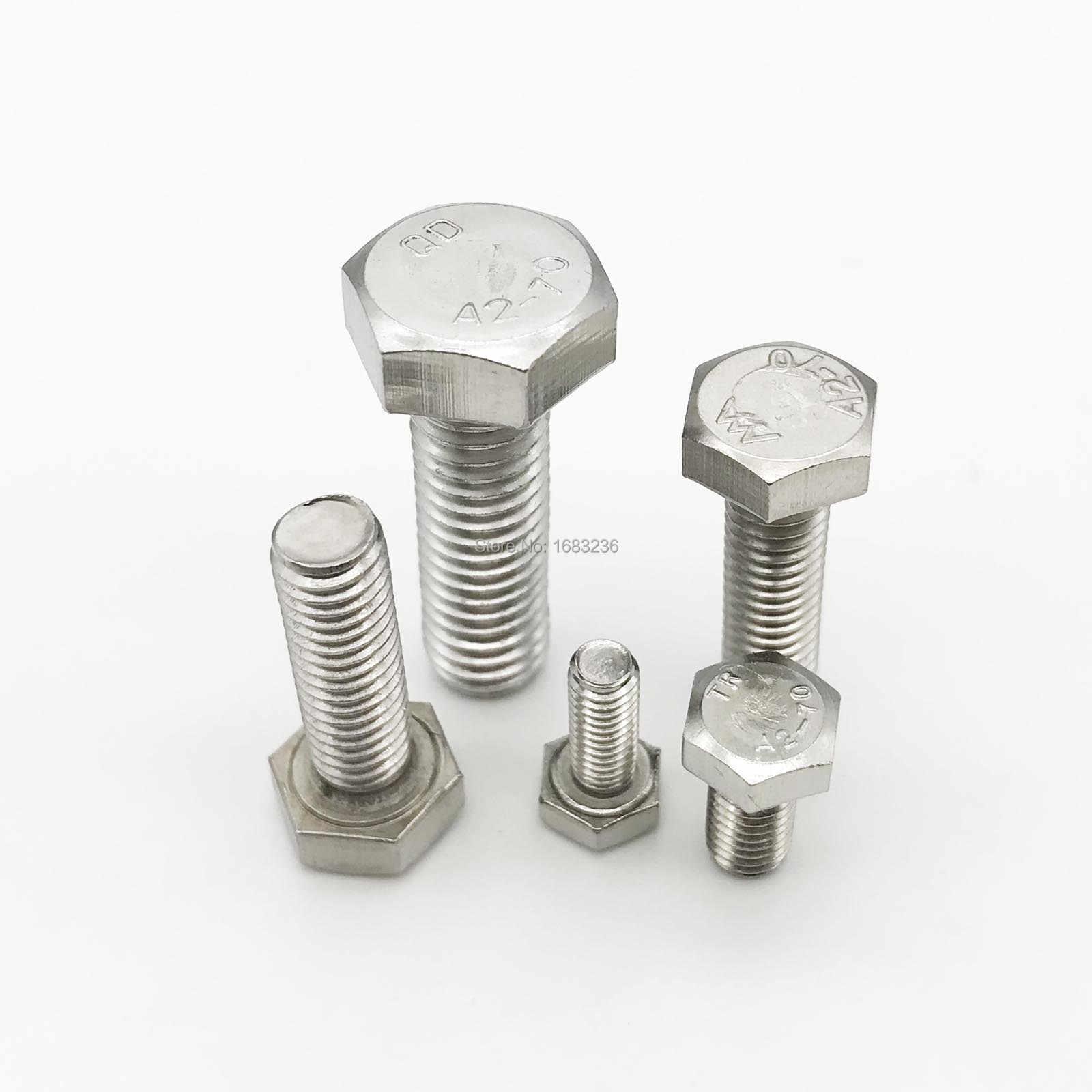 St@llion M10 A2 acero inoxidable Tornillos hexagonales de cabeza hexagonal de acero inoxidable con rosca DIN 933 M10x25mm